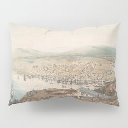 Vintage Pictorial Map of St Johns Newfoundland (1831) Pillow Sham