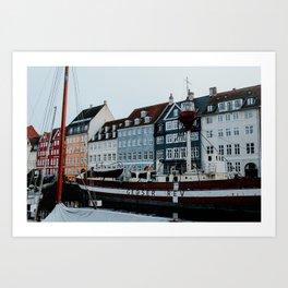 Nyhavn | Colourful Travel Photography | Copenhagen, Denmark Art Print