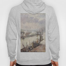 Camille Pissarro - Steamboats in the Port of Rouen Hoody