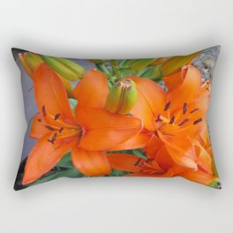 Orange Lilies Rectangular Pillow