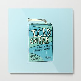 Iced Coffee Juicebox Metal Print