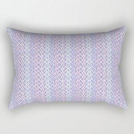 Lilac Abstract Fish Net Loop Pattern Rectangular Pillow