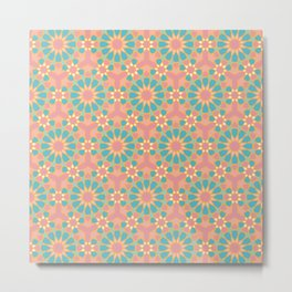 Vintage colors islamic geometric pattern Metal Print