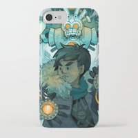 gundam iPhone & iPod Cases featuring Aztec Gundam by CKellyIllustration