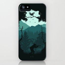 Hunting Season - Blue iPhone Case