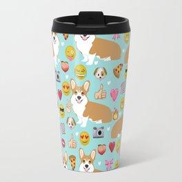 Corgi welsh corgi emoji pattern cute funny dog gifts emojis with corgis Travel Mug