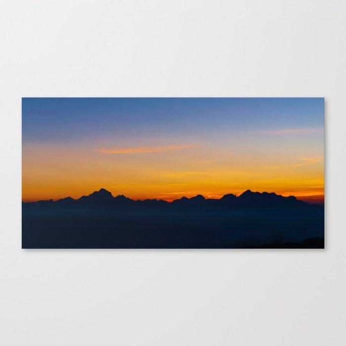 Wispy Mountain Glow Canvas Print