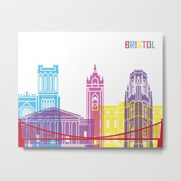 Bristol skyline pop Metal Print