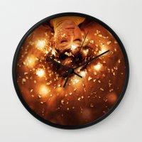 sleep Wall Clocks featuring Sleep by Mareva Nardelli
