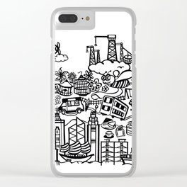 Hong Kong Creative Doodle Clear iPhone Case