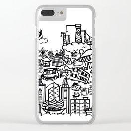 Hong Kong Creative Doodle Clear iPhone Case