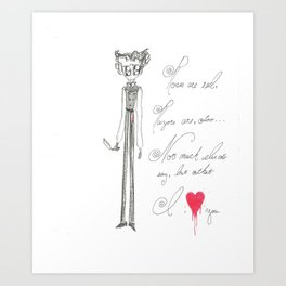 Sweeney Todd, Razors are red... Art Print