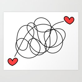 Hearts found each other (no text) Art Print