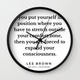 23    |  Les Brown  Quotes | 190824 Wall Clock