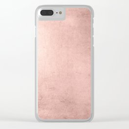 Blush Rose Gold Ombre Clear iPhone Case