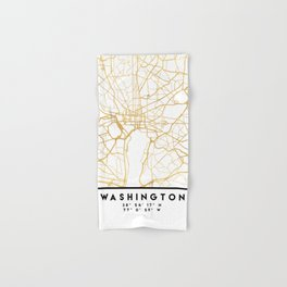 WASHINGTON D.C. DISTRICT OF COLUMBIA CITY STREET MAP ART Hand & Bath Towel