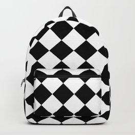 Rhombus (Black & White Pattern) Backpack