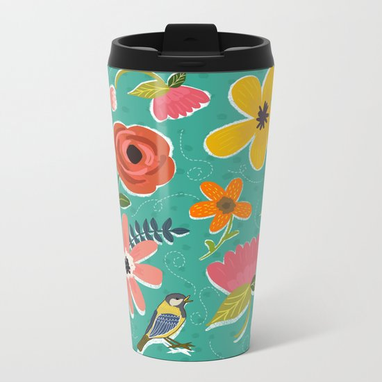 Secret Garden Metal Travel Mug