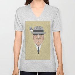 Leonard Cohen Unisex V-Neck