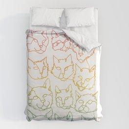 Contour Cats Duvet Cover