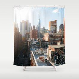 New York City Graffiti Shower Curtain