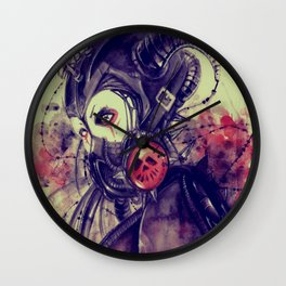 Cyber girl Wall Clock