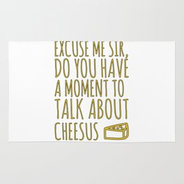 Funny Jesus Sarcasm Sarcastic Cheese Lover Gift Rug