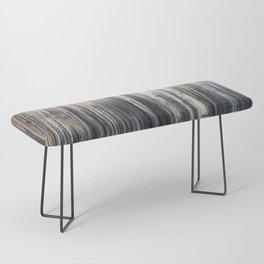 Weathered wood wall Bench