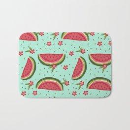 Tropical watermelon flower Bath Mat