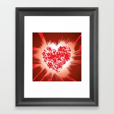 Energy Heart Framed Art Print