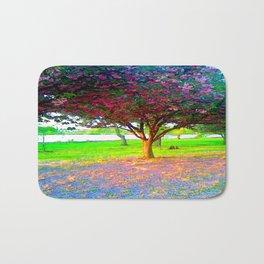 Flowering Trees Bath Mat