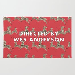 Directed By Wes Anderson - Zebra Wallpaper Rug
