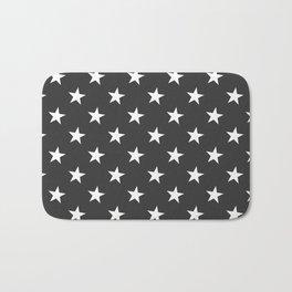 Black White Stars Bath Mat