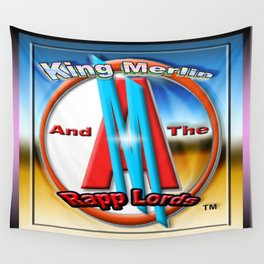 KING MERLIN AND THE RAPP LORD'S LOGO Wall Tapestry