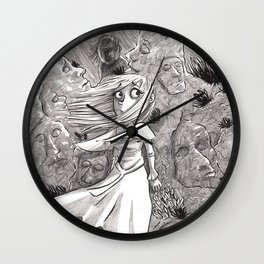 La jeune fille aux rochers Wall Clock