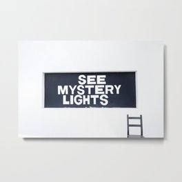 See Mystery Lights Marfa Metal Print
