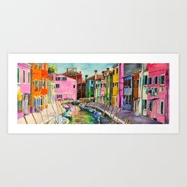 Venice Burano Art Print