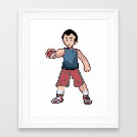 kevin russ Framed Art Prints featuring Kevin by Brockken