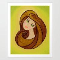 Eva Mod Girl Art Print