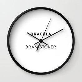 Dracula  —  Bram Stoker Wall Clock