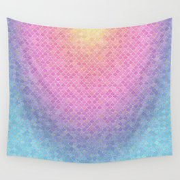 Rainbow Scales Wall Tapestry