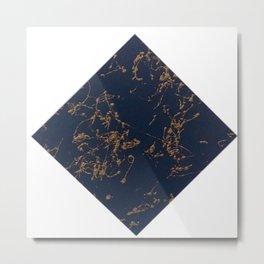 Marbled Navy Metal Print