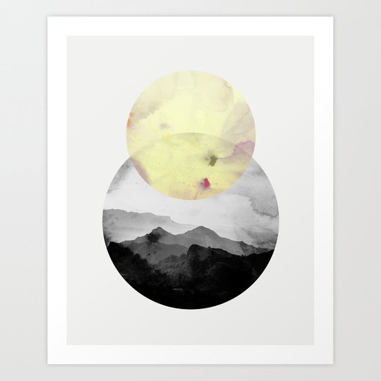 landscape montain nature Art Print