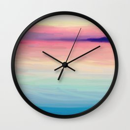 Tropical Twilight Sea Wall Clock