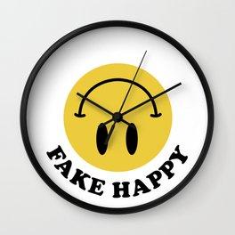 Fake Happy Smile Wall Clock
