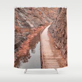Paw Paw Boardwalk Trail - Pastel Fantasy Shower Curtain