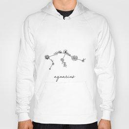 Aquarius Floral Zodiac Constellation Hoody