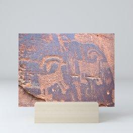 Native Indian Rock Art Mini Art Print