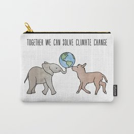 Together We Can Solve Climate Change Carry-All Pouch