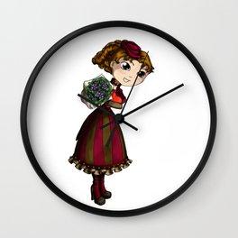 Chocolate and Posies Wall Clock